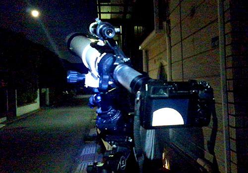 ポータブル赤道儀に天体望遠鏡