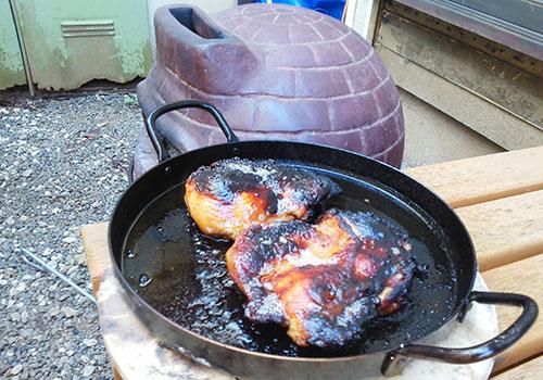 チムニーで鶏肉
