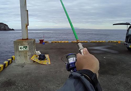 式根島で釣り