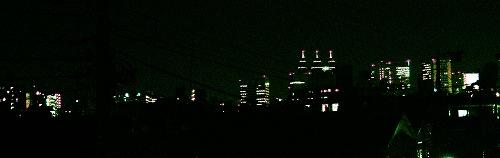 家から見える夜景