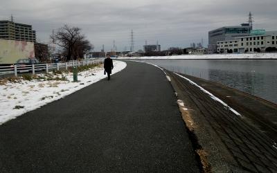 残雪のインターバル走02