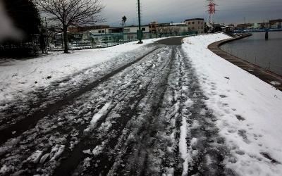 残雪のインターバル走03