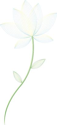 stylish vector flower
