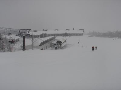 スキー場に戻った