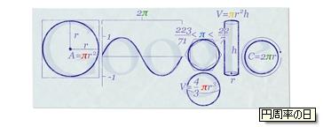2010.03.14 Googleロゴ 円周率