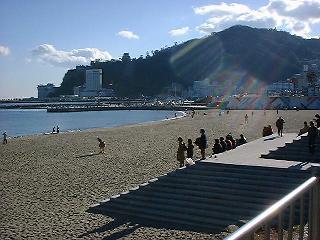 1999年1月 熱海の砂浜