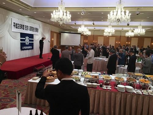 2016.06.17 平成28年度 在京八高同窓会 懇親会乾杯