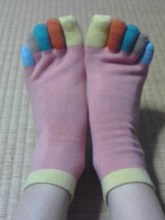 御本指の靴下