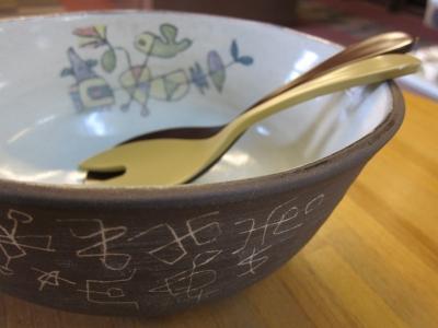 室蘭焼さびた窯-�橋浩さんサラダボール