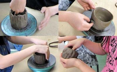 粘土と格闘中