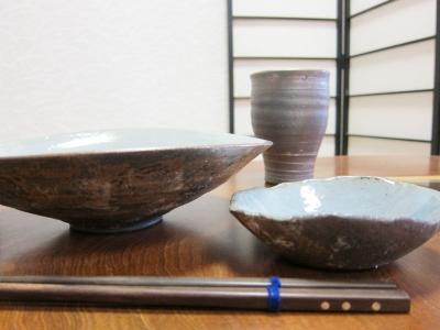 焼しめパスタ皿&ミニ小鉢とビアマグ