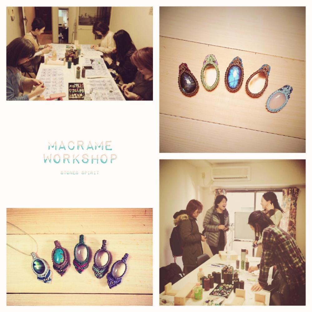 マクラメ/ワークショップ/教室/天然石/マクラメ編み