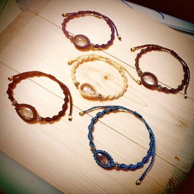 ワークショップ,教室,マクラメ,マクラメ編み,天然石,ブレス,ネックレス,手芸,