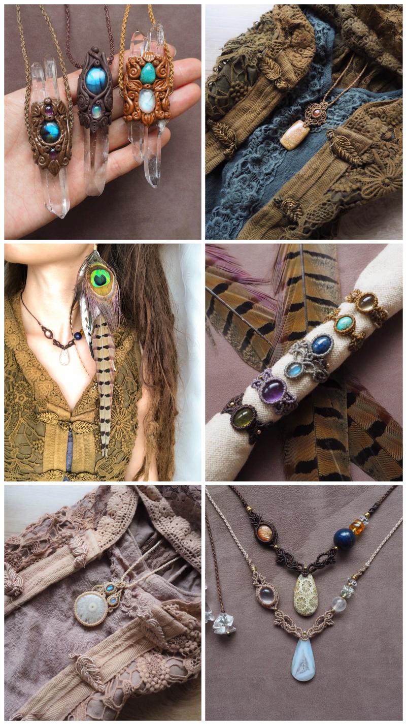 マクラメ,マクラメ編み,マクラメアクセサリー,マクラメネックレス,マクラメブレスレット,天然石,ネックレス,ブレスレット,