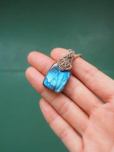 マクラメ,マクラメ編み,マクラメアクセサリー,天然石,ネックレス,