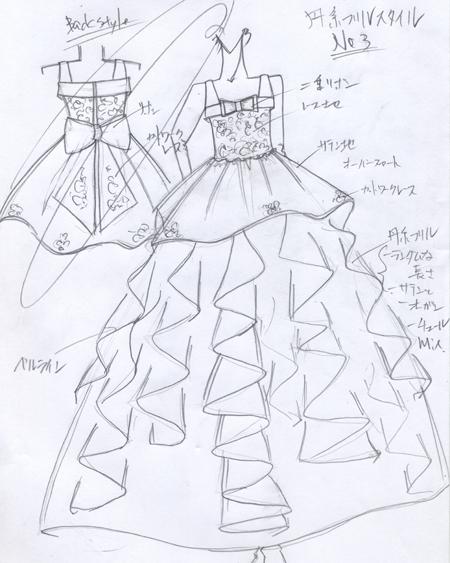 子供用 ピアノの発表会ドレス デザイン