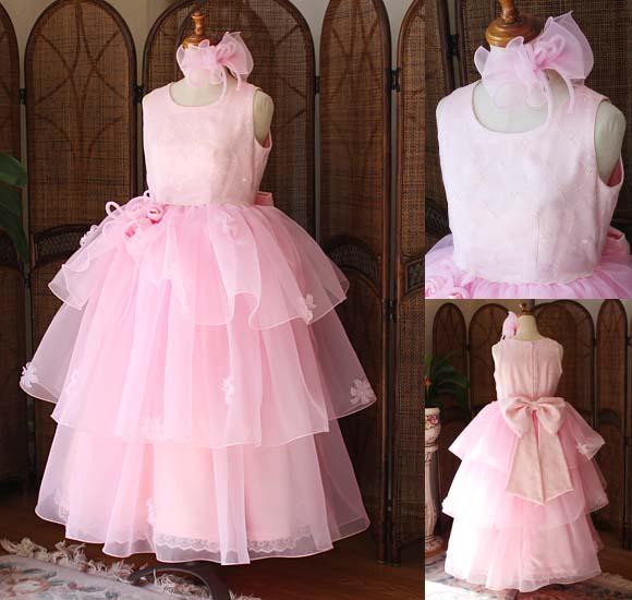 子供用 コンクールドレス ピンク