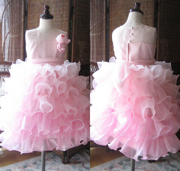 子供用ウェディングドレス カラー ピンク