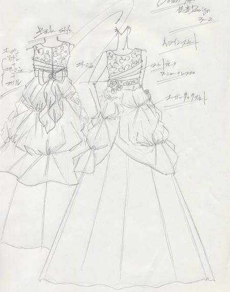 愛知県のお子様にドレスをデザイン コンクールドレスのデザイン画