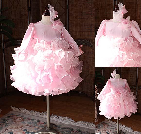 子供用ウェディングドレス ピンク