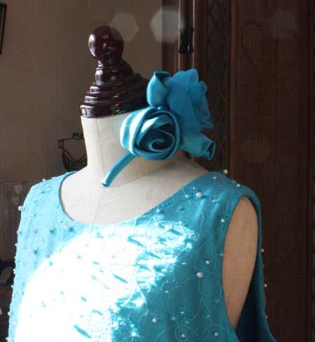 ヘッドドレス コサージュ