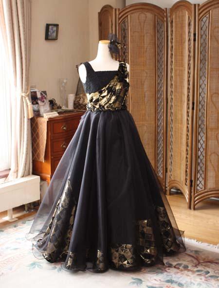 フルオーダーメイドドレス 子供用 ブラック