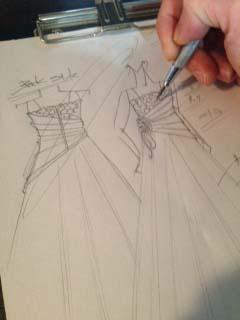 子供用ドレス デザイン画 東京都のお客様ドレス