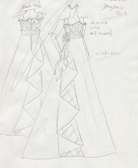 兵庫県のお子様ドレス コンクールドレス デザイン画