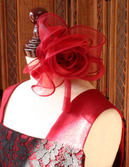 コサージュ 子供用のヘッドドレス