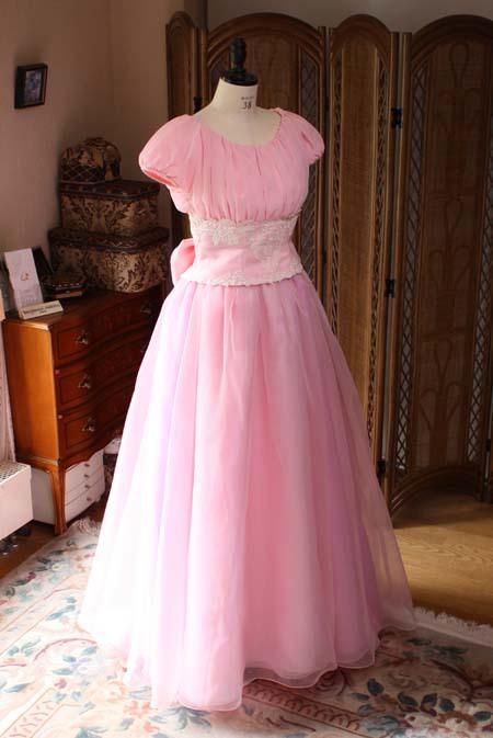 ロングドレス ピンク オーダー