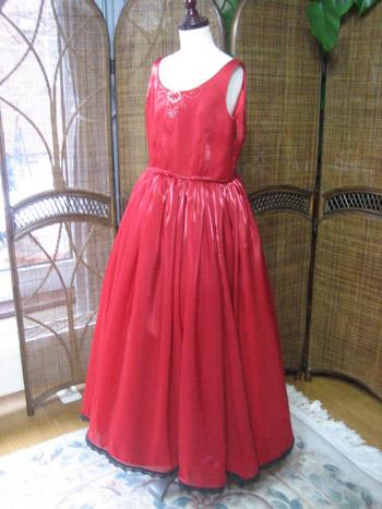 レッド 子供用ドレス