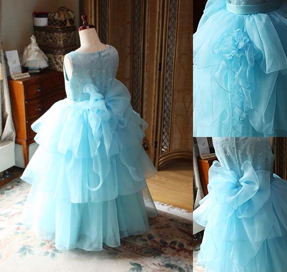 子供用ドレス ティアードドレス