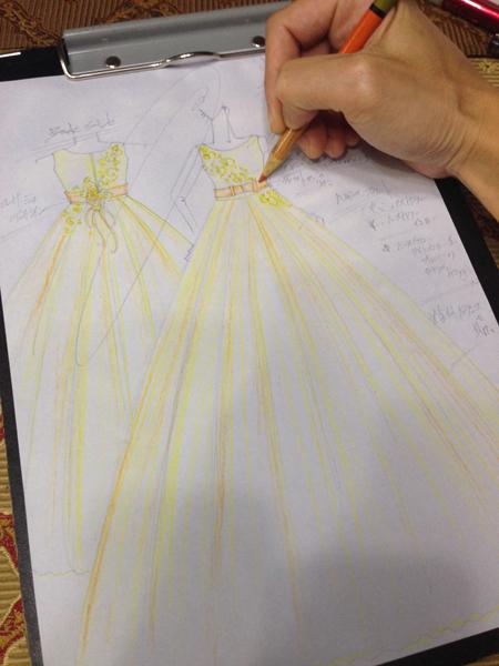 子供用オーダーメイドドレス ピアノ用ドレス