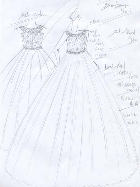 子供用オーダードレス デザイン立案
