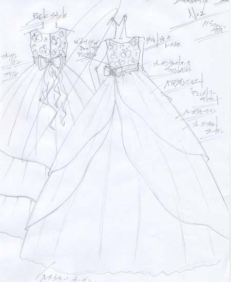 子供用オーダードレス 横浜のキッズサイズ ピアノ用ドレス