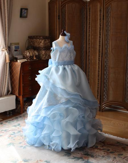 コンサートドレス ピアノの発表会ドレス ライトブルー