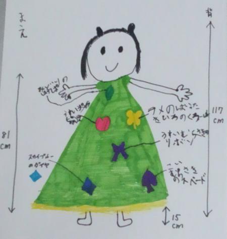 ドレスデザイン お子様が描いたイメージ