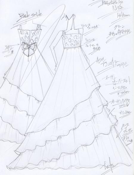 ヴァイオリン用ドレス 愛知県のお客様デザイン