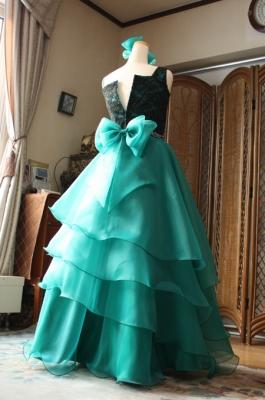 ヴァイオリン用ドレスのシルエット