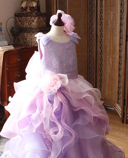 ピアノ用ドレス コンペティション用ドレス パープル