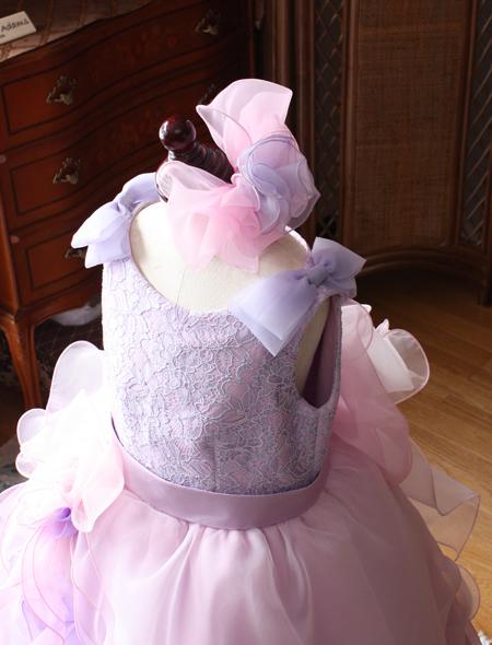 リボンのヘッドドレス ピアノのコンクール用ドレス