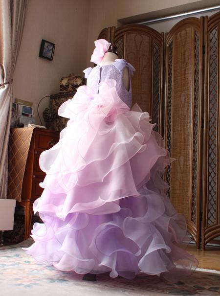 子供用 ピアノの受賞コンサート用ドレス