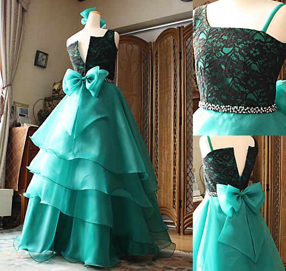 ピアノやヴァイオリン用ドレス エレガントなロングドレス