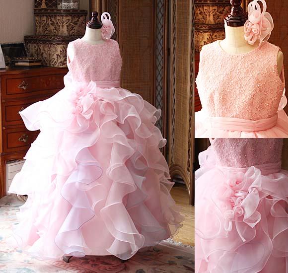 全国大会や都道府県などの大きな大会で人気 フリルの発表会ドレス