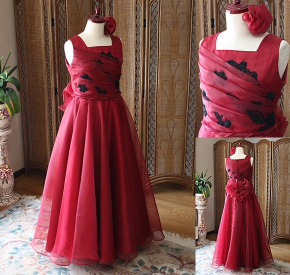 ボルドーレッド リサイタル用ドレス