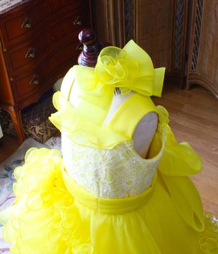 子供用ドレス用ヘッドドレス リボンとコサージュ