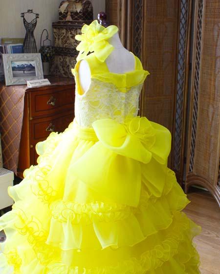 子供ドレスのウェストリボン