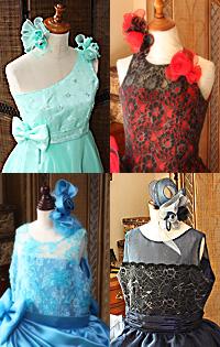 ジュニアサイズドレス ワンショルダー ストラップ ホルタースタイル