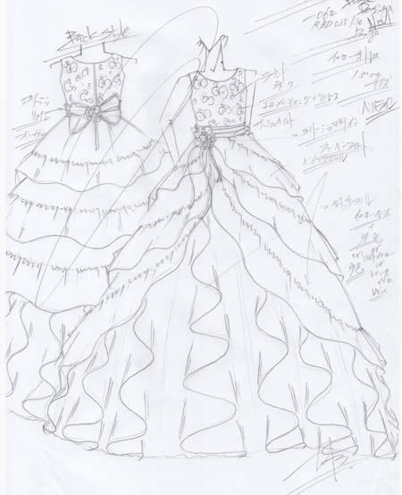 理想を追求したドレスのデザイン