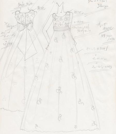 子供用 ドレスのデザイン画